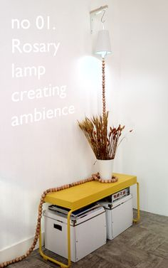 no.1: Creating ambience with the Rosary Lamp!