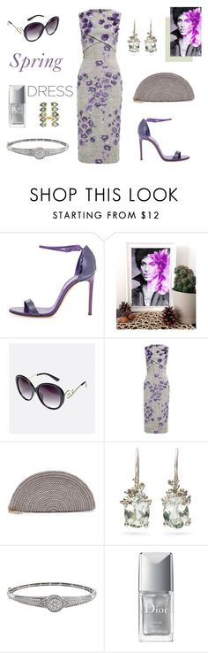 """""""floral spring"""" by supabebek ❤ liked on Polyvore featuring Casadei, Avenue, Jason Wu, Ruth Tomlinson, Christian Dior, Ileana Makri, purple, prince, classy and floraldress"""