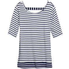 Cute striped top with back detail. Like if fitted.