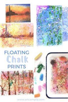 Floating Chalk Impressionist Paintings
