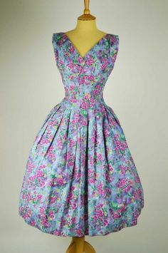 'New Look', 1940s-50s vintage dress
