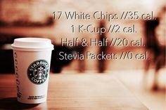 Skinny Starbucks White Chocolate Mocha [57 calories]