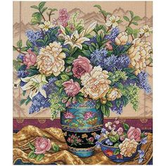 "Dimensions Gold Collection ""Oriental Splendor"" Counted Cross Stitch Kit, 12"" x 14"""