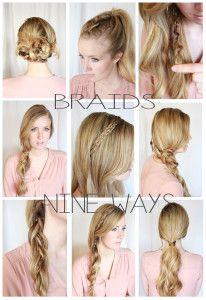 braids nine ways @Signature Brides  Braids, updos, hair