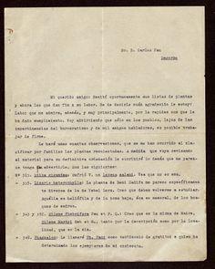 Revisiones de las descripciones de pliegos de plantas, Barcelona 7/11/1927. http://aleph.csic.es/F?func=find-c&ccl_term=SYS%3D000032841&local_base=ARCHIVOS (AIIB)