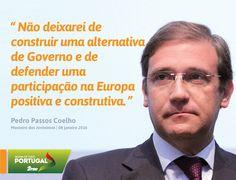 Pedro Passos Coelho, Presidente do PSD, na Cerimónia Comemorativa dos 30 anos da Integração de Portugal nas Comunidades Europeias. #PSD #acimadotudoportugal