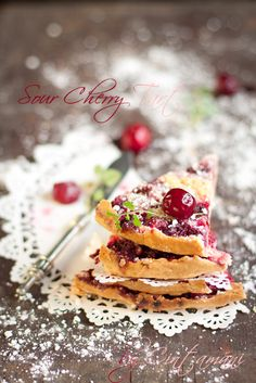 Very Ugly but Very Tasty Sour Cherry Tart by Cintamani ;-), via Flickr