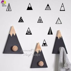 Nordic Style Mountain Wall Sticker Children Room Hill Pegantinas Wall Decal Kids Room DIY Easy Cut Vinyl Baby Nursery Decor -in Wall Stickers from Home & Garden on Aliexpress.com | Alibaba Group