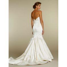 Mermaid Sweetheart Satin Long Ivory Wedding Dress