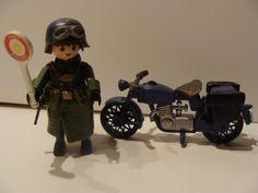 Soldat Allemand avec moto,deuxième guerre mondiale, playmobil