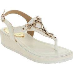 Victoria K. Women's Comfort Sandals, Size: 10, White