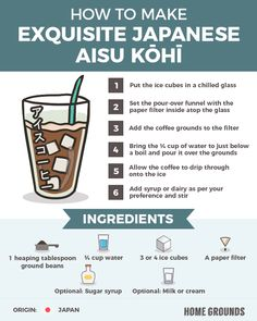 21 Mind Blowing Iced Coffee Recipes [from Around the World] Iced Coffee Drinks, Coffee Menu, Coffee Tasting, Great Coffee, Espresso Coffee, Easy Coffee, Coffee Art, Coffee Break, Morning Coffee