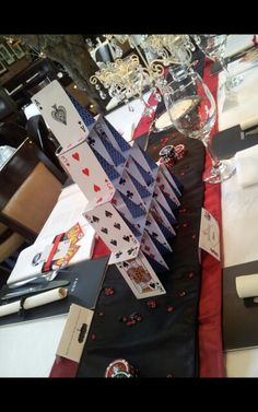 Vegas themed party table at Gusto in Heswall