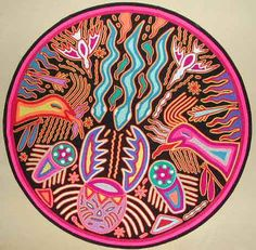 huichol yarn painting - Google Search
