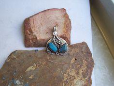 Sleeping Beauty Turquoise Sterling Silver Pendant by WearableArt1 on Etsy