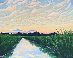 The Golden Hour | Elise Nuckols Art | Acrylic on birch panel