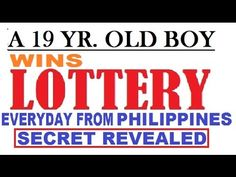 A 19 year old Guy from philippines figure out how to win the lottery daily! Picking Lottery Numbers, Lucky Numbers For Lottery, Lotto Winning Numbers, Winning The Lottery, Savings Challenge, Money Saving Challenge, Saving Money, Luck Spells, Wealth Affirmations