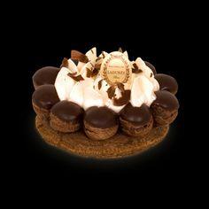 Saint Honoré au chocolat et à la vanille / Chocolate and vanilla Saint Honoré. Ladurée