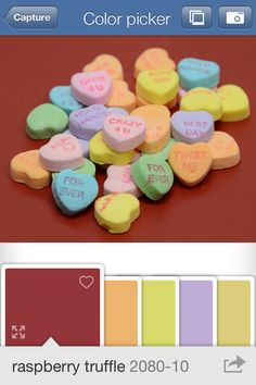 capture my heart and a paint colour to match.