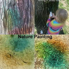 Nature painting!  My daughter loves painting, and LOVED this!