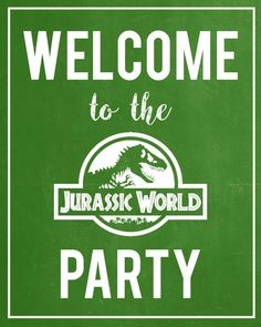 welcome to jurassic world sign - - Image Search Results Dinosaur Birthday Cakes, Dinosaur Party, Birthday Fun, Birthday Party Themes, Fête Jurassic Park, Jurassic World, Park Party Decorations, Elmo Party, Mickey Party