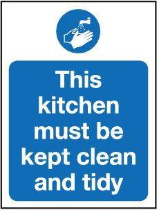 Fresh Kitchen Safety Signs