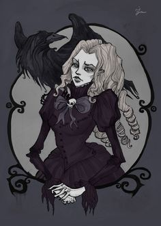 Lenore portrait by IrenHorrors on deviantART