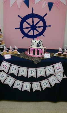 Girl 1st Nautical | CatchMyParty.com