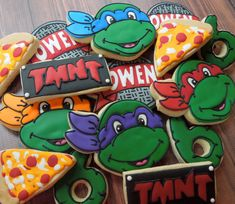 Handmade and Decorated Teenage Mutant Ninja Turtle Cookie Set Sugar Cookies on Etsy, $48.00