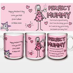 Mothers Day Gift Ideas - Personalised Purple Ronnie Perfect Mummy Mug - £8.99