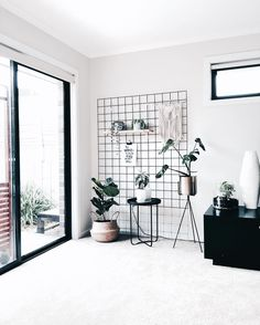Black on white, grid and greens, nordic simplicity