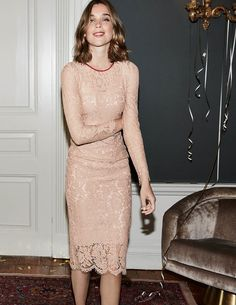 Susannah Lace Dress WW173 Special Occasion Dresses at Boden