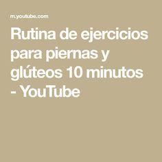 Rutina de ejercicios para piernas y glúteos 10 minutos - YouTube Youtube, Fitness, Dance Fitness, Leg Toning, Leg Workouts, Fitness Exercises, Routine, Sleeves, Blouses