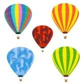 1. The Free-Spirit    Collection of isolated balloons stock photo