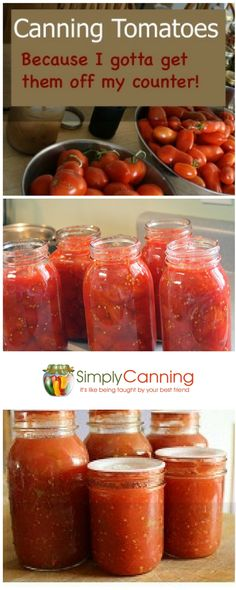 Canning Tomatoes and Tomato Products How to can tomatoes. Everything from processing directions and safety recommendations to my favorite tips.  http://www.simplycanning.com/canningtomatoes.html