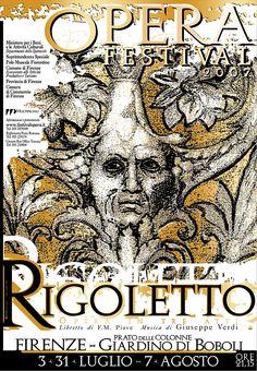 Emo Risaliti Lyric Opera Poster- Rigoletto