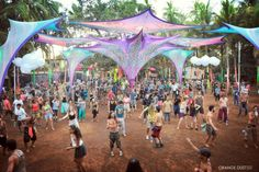 Hill Top in Goa : For Tour Bookings - http://www.toursandtravelsinindia.com/tour_booking_india.html  Goa's iconic psy trance party playground, Hill Top has been in business since the hippie heydays of the 1970s. This revered open-air venue has evolved from small restaurant into a mecca for psychedelic trance that's hosted artists from around the world.