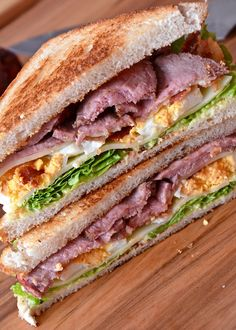 Gesmoktes Roastbeef Sandwich Bbq Beef Sandwiches, Finger Sandwiches, Wrap Sandwiches, Wrap Fillings, Party Snacks, Grilling Recipes, Carne, Lunch, Cooking