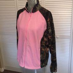 Camo & Pink Fleece Like Jacket
