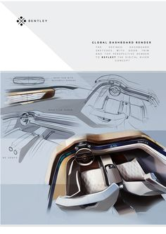 Bentley Mulsanne 2030 Concept Interior on Behance 실내디자인이 굉장히 미래적이고 깔끔하고…