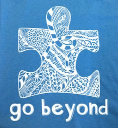 Go Beyond  Autism Awareness Screenprint Tee by onTheSpotStudio, $20.00