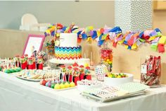 Hostess with the Mostess® - A Chevron Rainbow Themed First Birthday