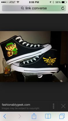 Zelda painted shoes