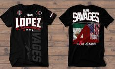 Get my first #teamshirt for my next fight! This awesome shirt goes on sale this tomorrow. Click on the link on my bio to purchase and represent #teamLopez #teamchamaco come #fightnight. A big thank you to @teamsavages for working with me. Check out their other amazing gear as well.  Mis primeras camisas para mi próxima pelea. Estas camisas chidas van a la venta este mañana. As click en el link en mi página para comprar y representar #teamLopez #teamchamaco en día de mi pleito. Muchísimas…