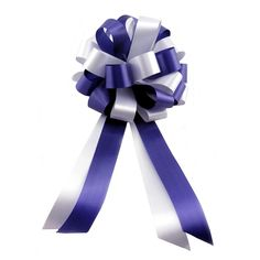 Indigo Blue and White Wedding Pew Pull Bows - 8' Wide, Set of 6 >>> Be sure to check out this awesome product.