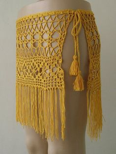 Crochet skirt, Yellow crochet cover up, women pareo, summer accessories, beach wear ! FORMALHOUSE Yellow Color crochet skirt summer beach skirt cover up women pareo wrap cover mini skirt. This Crochet skirt Yellow crochet cover up women pareo summer is ju Black Crochet Dress, Crochet Skirts, Crochet Bodycon Dresses, Crochet Clothes, Crochet Shawl, Crochet Lace, Crochet Bikini, Beach Crochet, Crochet Doilies