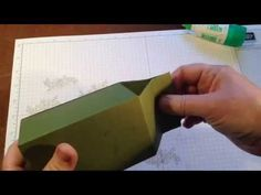 "Milk carton box using 11"" cardstock & gift bag punch board - YouTube"