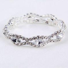 Love Boat All Crystal Stretchable Bracelet    #Jewelry #MothersDay