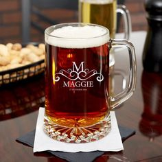 Personalized Christmas Beer Mug 23 oz for sale online Engraved Beer Mugs, Personalized Beer Glasses, Personalized Valentine's Day Gifts, Custom Gifts, Personalized Wedding, Customized Gifts, Beer Wedding, Great Wedding Gifts, Xmas Gifts For Him