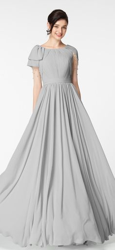 Gray mother of the bride dresses with sleeves long formal dresses